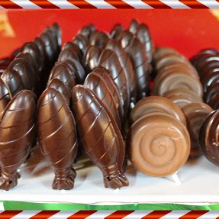 Sucettes en chocolats maison