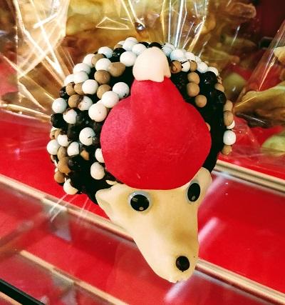 Le hérisson de noël en chocolat artisanal