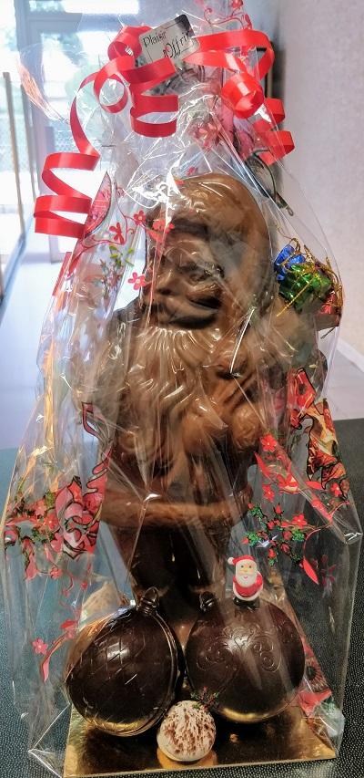 Père Noël en chocolat artisanal