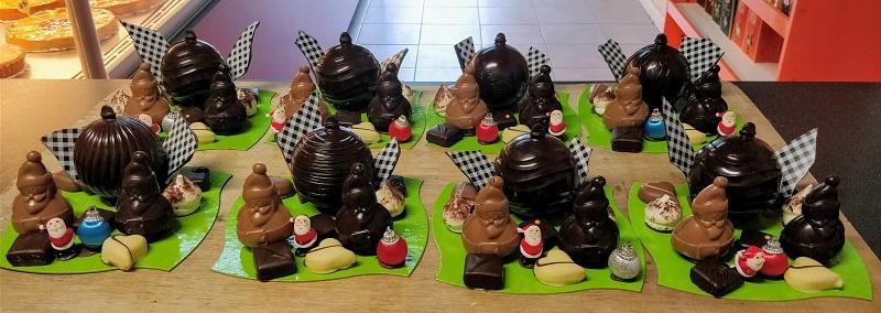 Sujet de noël en chocolat artisanal